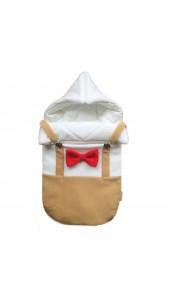 конвет для новорожденного на выписку и в коляску смокинг