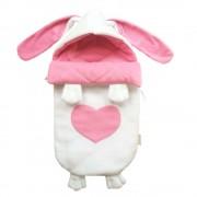 """Конверт для новорожденного """"Зайка с розовым сердечком"""" для девочки"""