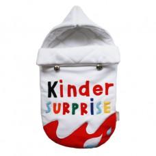 """Конверт для новорожденного на выписку и в коляску """"Киндер Сюрприз"""""""